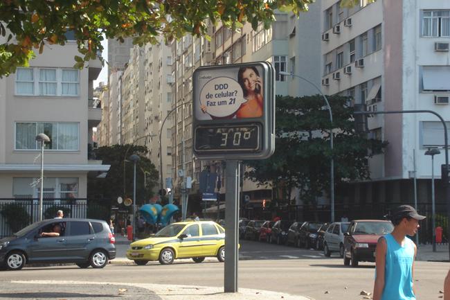 Rio de Janeiro 30 graus. Mas sensação de quarenta!