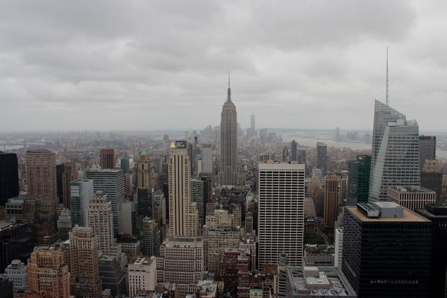 New York - vista maravilhosa para os gigantes da cidade - os prédios arranha-céu.