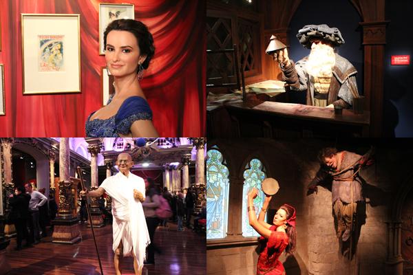 Penélope Cruz, Da Vinci, Gandhi e O Corcunda de Notre Dame, algumas das atrações.