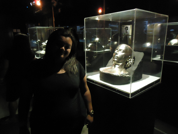Eva Perón - máscara mortuária de seu funeral.