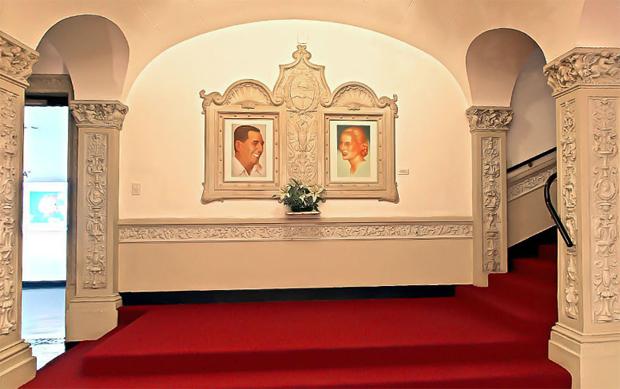 Juan e Eva Perón - entrada do museu