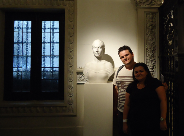 Despedida do Museu. Valeu muito a pena visitá-lo.