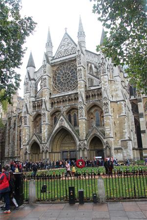 A Abadia de Westminster em dia de evento. Simplesmente majestosa.