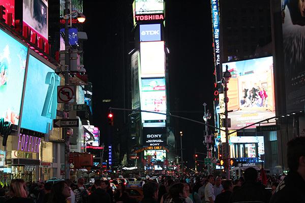 Times Square, surpresa especial veio de um simples panfleto...