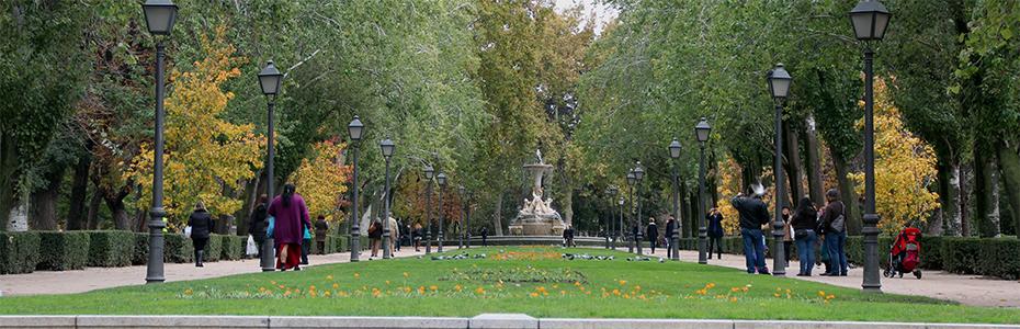 Passeando pelos Jardins del Retiro de Madrid