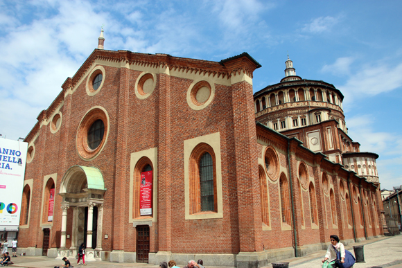 Santa Maria della Grazie, nesta igreja fica uma das obras de arte mais famosas do mundo. A Última Ceia.