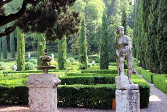 Giardino Giusti, um jardim particular considerado um dos mais belos de toda Europa...