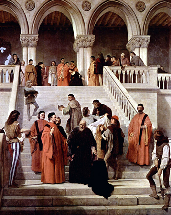 A última hora do doge Marino Faliero - Francesco Hayez (1867)