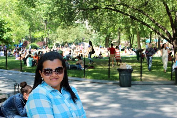 A movimentadíssima Madison Square Park, no coração da cidade.