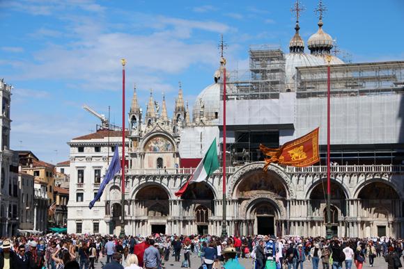 A Basílica de San Marco - ou Chiesa d'Oro, memória de tempos de opulência de uma República poderosa...