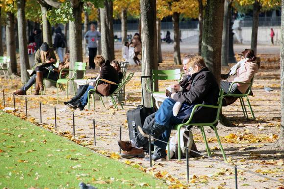 Jardim des Tuileries. Um refugio bem no meio da cidade.