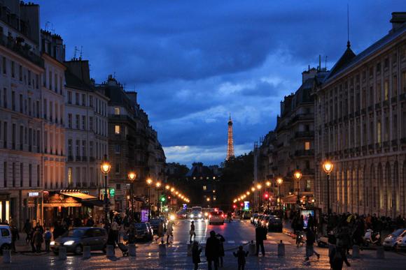 Au revoir, Paris!!! - Vista do entardecer no Panteão de Paris para o jardim de Luxemburg...