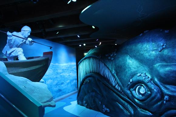 A caça às baleias também é retratada neste museu.