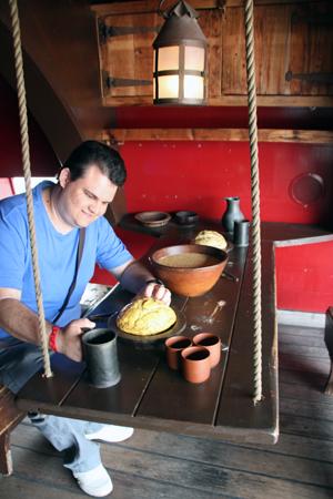Almoço de um humilde marinheiro...