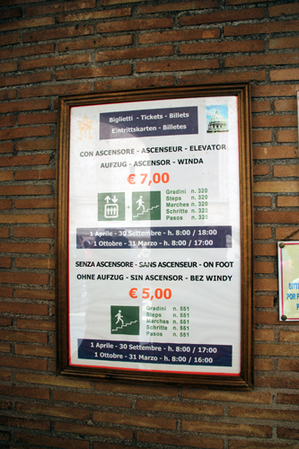 Valor dos ingressos - ainda bem que gastamos dois euros a mais...