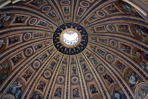 A última vista da decoração do interior da cúpula, agora  vamos passar dentro de suas paredes...