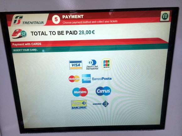 Escolha o pagamento com cartões, selecione o seu..