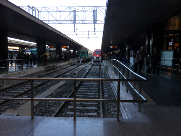 Estação Termini, no coração de Roma. Pena que não temos foto melhor...