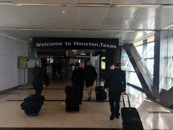 A chegada em Houston, enfim nos EUA!