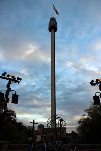 Sky tower - um mirante do parque.