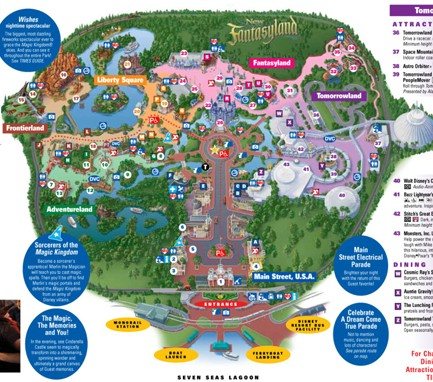 Mapa do Magic Kingdom