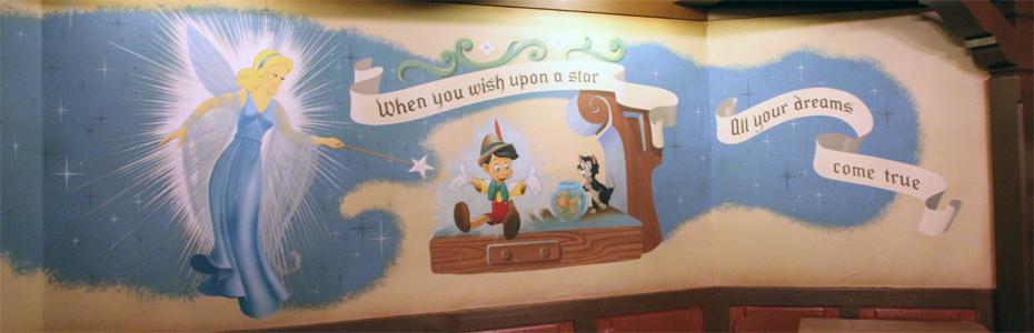 Fantasyland e a estrela cadente da Disney