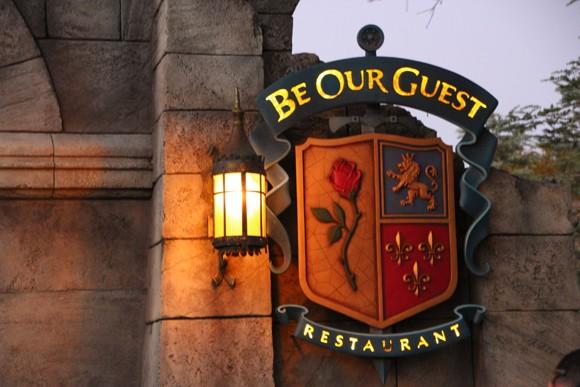 Entrada para o restaurante Be Our Guest