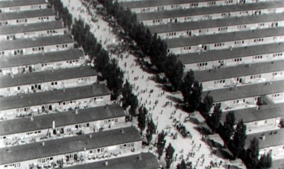 Imagem aérea feita pelo exército norte americano na época da libertação do campo de concentração.