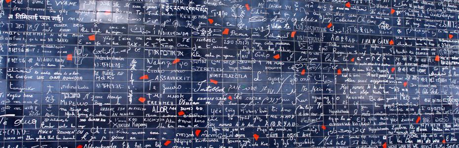 Apaixonados em Paris – o mur des je t'aime