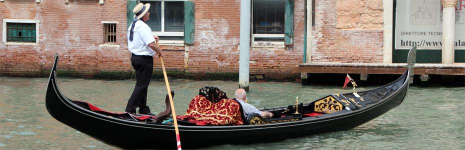 Veneza – um passeio de gôndola